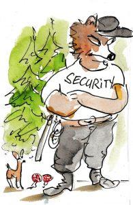 Rotkäppchens Taktik: den Wolf als Security einsetzen