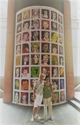 Bild mit 48 Köln-Frauenkopfe von Gerda Laufenberg