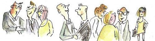 Wer den Small Talk beherrscht, kann leicht Kontakte knüpfen.